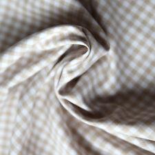 Baumwollstoff Check Karo Vichy Beige Weiß 5mm Groß Beiger Stoff Baumwolle