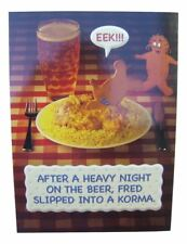 Fred & Ginger Beer / Curry Joke BLANK card by Great British card company