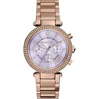 Michael Kors Uhr Damenuhr MK6169 Parker Farbe:Rose Gold/Lila Kristall NEU