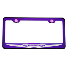 Purple Chrome Laser Etched Chrysler Logo License Plate Frame 304 Stainless Steel