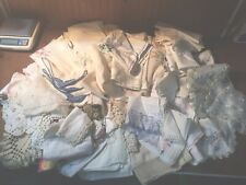 New ListingHuge Lot Of 81 Pieces Vintage Linens Crochet Lace Doilies RunnersTableclothes