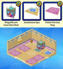 2010 Webkinz PERSIAN PALACE Curio Shop RARE: Bed, Sandstone Spa, Violet Rug