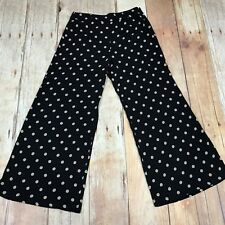 TOAST Black Beige Polka Dot Spotty Wide Leg Trousers Loose Size UK 12 24205