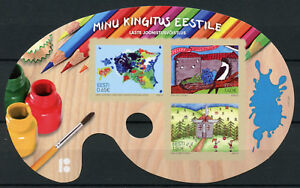 Estonia 2018 MNH My Gift to Estonia Children's Drawings 3v S/A M/S Art Stamps