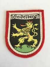 Vintage German Souvenir Patch Heidelberg Germany