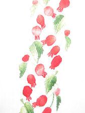 Israeli Vtg Handmade Embroidered Folk Boy's Shirt Blouse Top w Pomegranates sz S