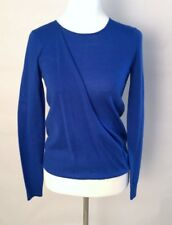 2e92098957 NWT Antonio Melani Maddox 100% Wool Long Sleeve Drape Sweater Blue XS NEW!   119