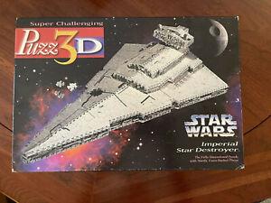 Classic 1996 Puzz 3D Star Wars Imperial Star Destroyer Milton Bradley Complete
