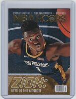 """2019-20 NBA HOOPS-ZION WILLIAMSON -""""ROOKIE SPECIAL"""" KEYS TO THE KINGDOM-Pelicans"""