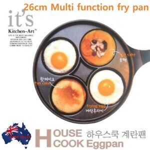 26 cm Multi-function 4in 1 Non-stick Coating 4x Dimples holes Multi Fry pans KR