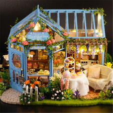 DIY Doll House Miniature Toy House Furniture Wood Cottage Box Kit Kid Xmas Gifts