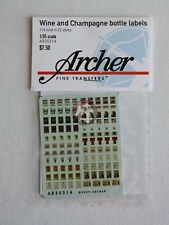 Archer 1/35 Wine and Champagne Bottle Labels (114 labels in 22 styles) AR35314