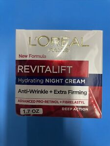 L'Oreal Revitalift Hydrating Night Cream 1.7oz Anti-Wrinkle Extra Firming 🌹 🌹