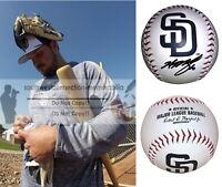 Hunter Renfroe Signed Autograph San Diego Padres Logo ROMLB Baseball Exact Proof