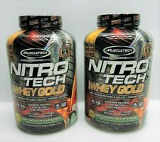 (2 Pack) Muscletech Nitro Tech 100% WHEY GOLD Protein Mint Chocolate Chip x2!