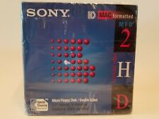 "New Floppy Disk SONY MFD 2HD 3.5"" MAC Formatted 1.40 MB 10MFD-2HDcfm Double-Side"