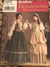 Simplicity Renaissance Costume Collection 3809 10-14