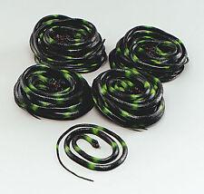 Halloween Black & Green Coiled Rubber Asp Snake Medusa Fancydress