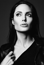 "Angelina Jolie Poster 13x19"" Black And White"