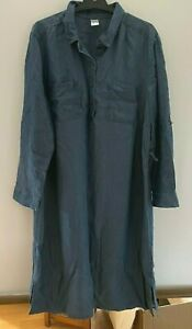 Ladies plus size 18 mid blue denim button up TENCEL Dress Curve  ANKO  no belt.