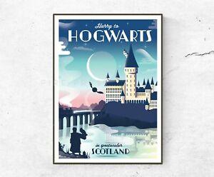 Hogwarts Poster / Print / Wall Art A4 A3 / Harry Potter / Scotland Poster