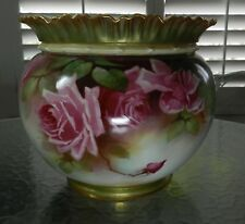 Royal Worcester Jardiniere Roses Artist signed W Jarman Hand Painted Huge
