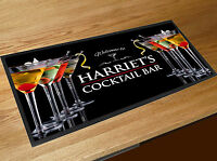 Personalised Cocktail Glass bar runner home bar party Bar mat
