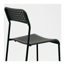 STACKABLE IKEA ADDE Chair, black