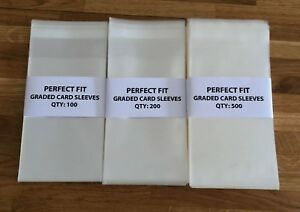 Perfect Fit PSA Graded Card Sleeves / Bags - Pokemon / Sports / Protection