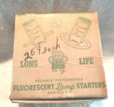 VINTAGE ADVERTISING LAMPS LIGHTING ROYAL FLUORESCENT LAMP STARTERS BOX G.B. (9)