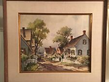 Watercolor By Listed American Artist John Cuthbert Hare