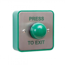Surface Mount Push To Exit Button Switch Large Green Backbox Access Press RACK 2