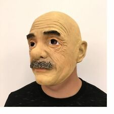Vivid Latex  Funny Old man Mask Full Face Cosplay Halloween Mask Props HJ171