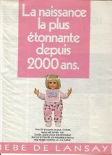 PUBLICITE 2000 LANSAY naissance la + étonnante