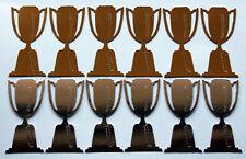 12 Trophy Die Cuts - 6 Gold & 6 Silver