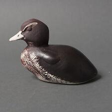 gustavsberg paul hoff figure duck mid century sweden brown stoneware