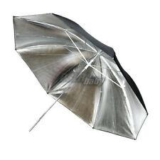 33'' 83 Cm Studio Flash Speedlite Photography Reflector Umbrella Silver Black