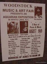 Woodstock Music Concert Festival 1969 Poster Print 60'S art hippie photo sepia