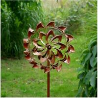 Jonart Designs- Double Swirl Bronze Wind Sculpture WINDSPINNER Sp590