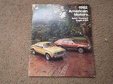 1982 AMERICAN MOTORS EAGLE CONCORD SPIRIT ORIGINAL DEALER SALES BROCHURE