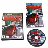 Burnout Sony Playstation 2 PS2 Video Game Complete CIB