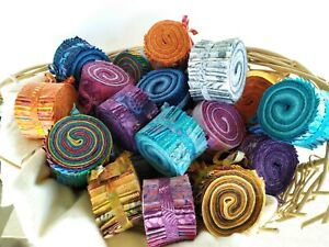 Mini Batik Fabric Jelly Rolls, 20 x 2.5 inch Strips *Multi-Buy Discount*