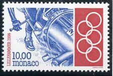 TIMBRE DE MONACO N° 1925 ** SPORT JEUX OLYMPIQUES D'HIVER LILLEHAMMER BOBSLEIGH