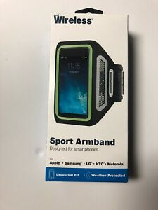 JUST WIRELESS SPORT ARMBAND DESIGNED FOR SMARTPHONES ~ UNIVERSAL FIT