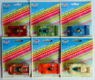 All six die-cast metal 7cm sports cars T311-316 by TINS TOYS Made in Hong Kong