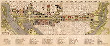 "Development Map of Downtown Washington DC the White House Wall Art Poster 7""x16"""