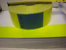 "NEON YELLOW  Reflective   Conspicuity  Tape 2"" x 100 feet plain no lines"