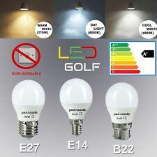 LED 25W 40W 60W SES E14 BC B22 E27 ES Golf Ball White Bulbs Small Globe Light