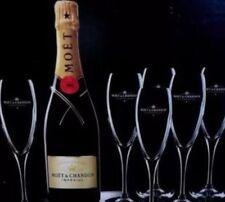6 X Moet Chandon Champagne Glass Flutes