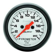 "Auto Meter Boost/Pyrometer Gauge 5745; Phantom Kit 2000°F 2-1/16"" Electrical"